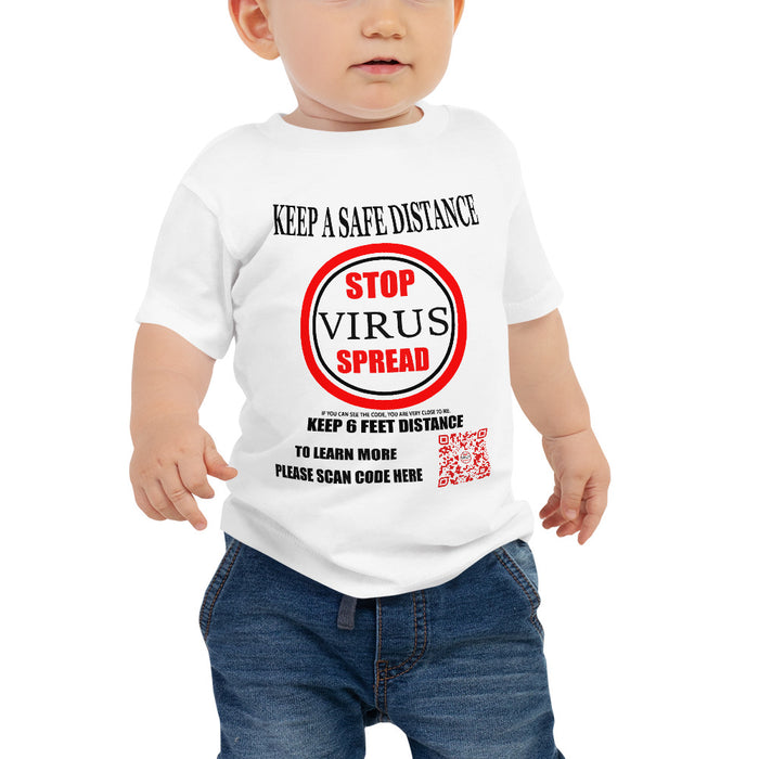 Baby Jersey Short Sleeve Tee SUPPORT Red label in feet