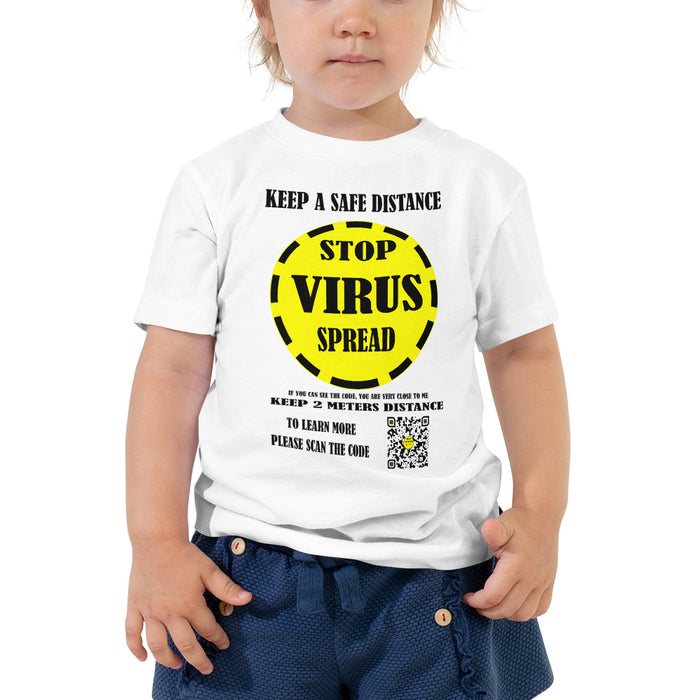 Toddler Short Sleeve Tee GIRLS SUPPORT Yellow label in meter