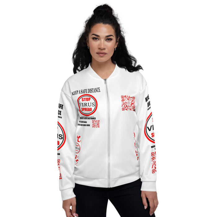 Support Women Bomber Jacket red in feet