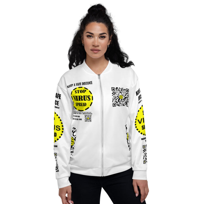 Support Women Bomber Jacket Yellow in feet