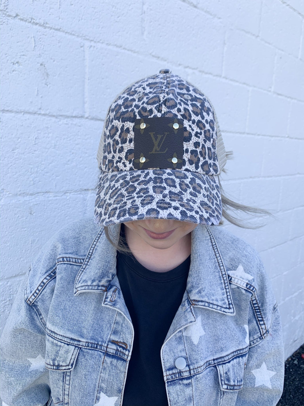 REPURPOSED AUTHENTIC LV BASEBALL HAT