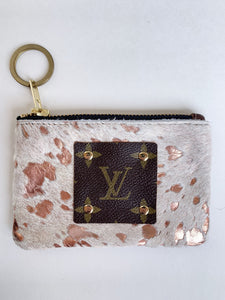 REPURPOSED AUTHENTIC LV ROSE GOLD COIN PURSE