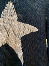 Load image into Gallery viewer, Star slouchy crew sweater