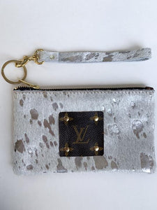 REPURPOSED AUTHENTIC LV SILVER WRISTLET
