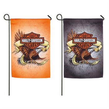 Harley Davidson double sided suede flag