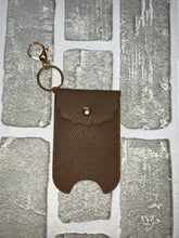 Load image into Gallery viewer, Faux leather hand sanitizer holder keychain