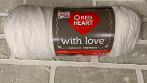 Red heart with love yarn