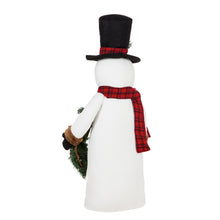 Load image into Gallery viewer, Tabletop Snowman with LED Wreath