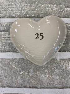 25 year wedding anniversary ring tray