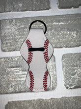 Load image into Gallery viewer, Baseball chapstick holder keychain blanks