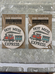 Hot mess express car coasters