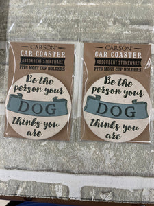 Dog car coasters