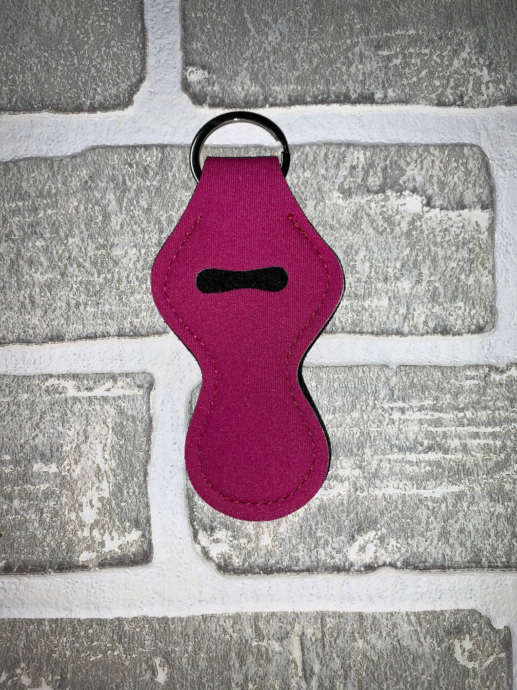 Magenta chapstick holder keychain blanks