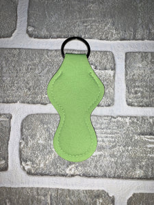 Lime green chapstick holder keychain blanks