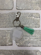 Load image into Gallery viewer, Green tassel keychain blanks