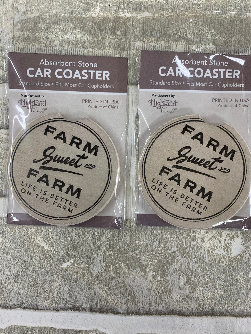 Farm sweet farm car coasters