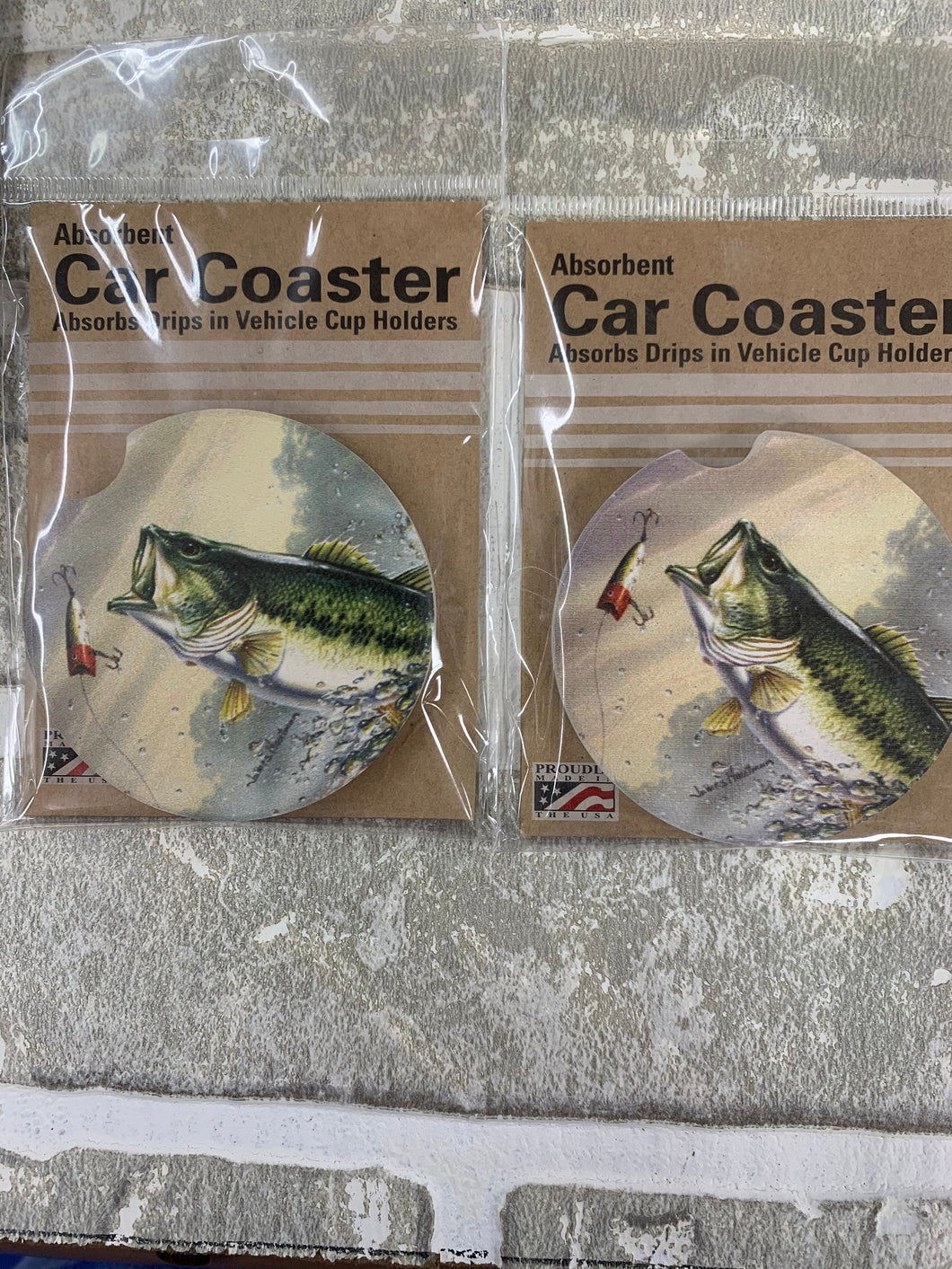 Fishing car coasters