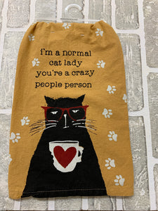 Cat lady kitchen towel