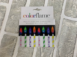 Multi color, color flame candles
