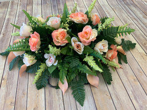 Peach Rose & Calla Lily Saddle