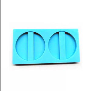 Blank round silicone straw topper mold