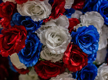 Load image into Gallery viewer, Red, White & Blue Giant Open Rose Bush