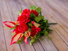 Load image into Gallery viewer, Red Calla Lily & Rose Bush