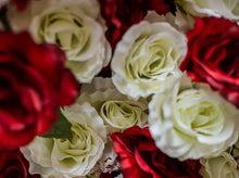Load image into Gallery viewer, Red & White Giant Open Rose Bush