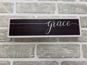 Grace block sign