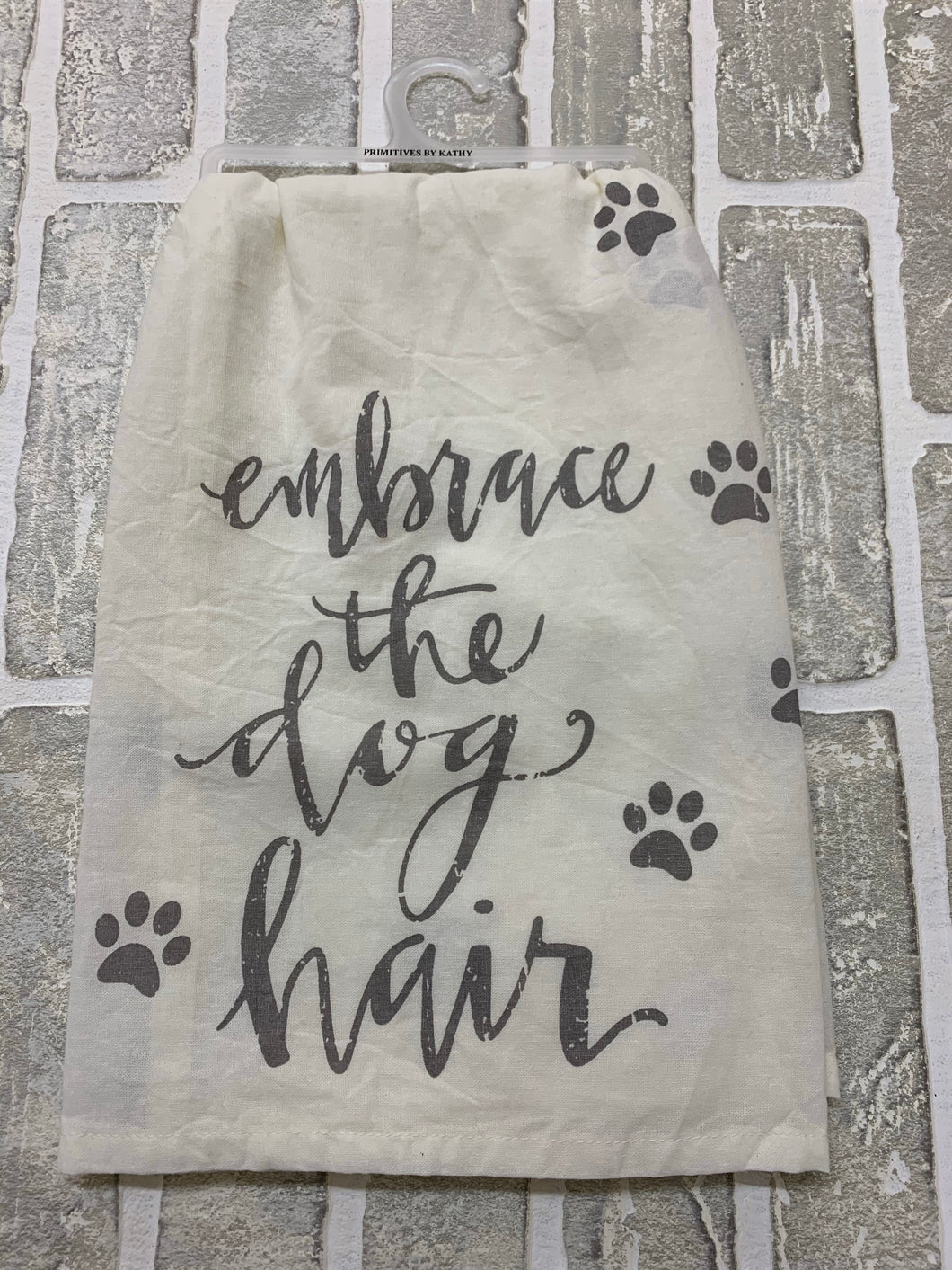 Embrace the dog hair kitchen towel