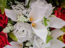 Load image into Gallery viewer, White Calla Lily & Rose Bush