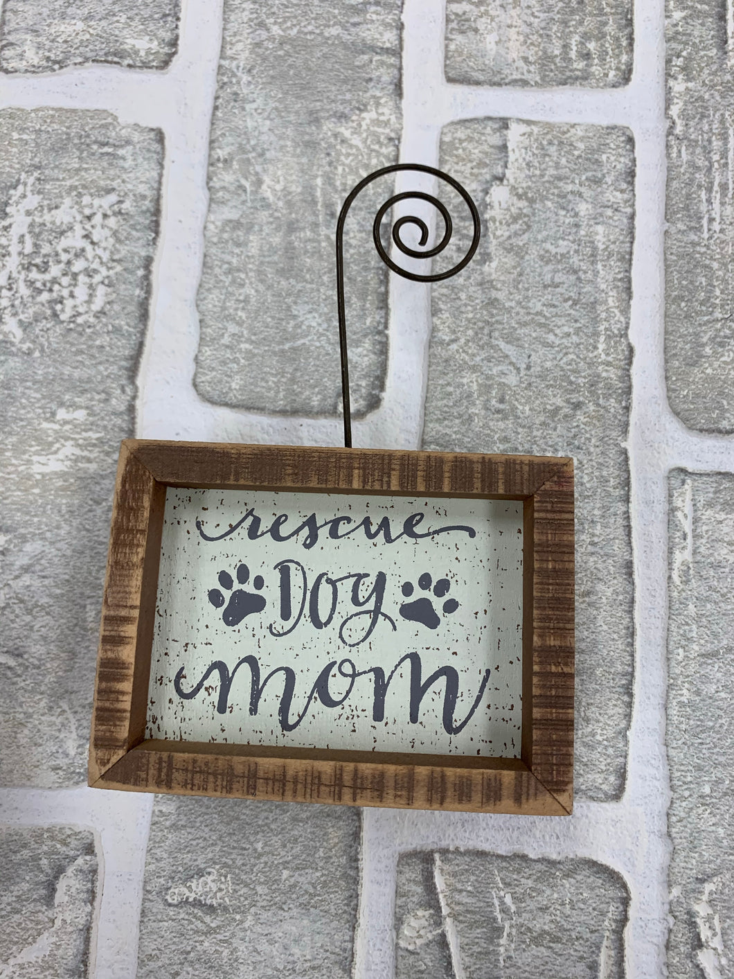 Rescue dog mom photo block