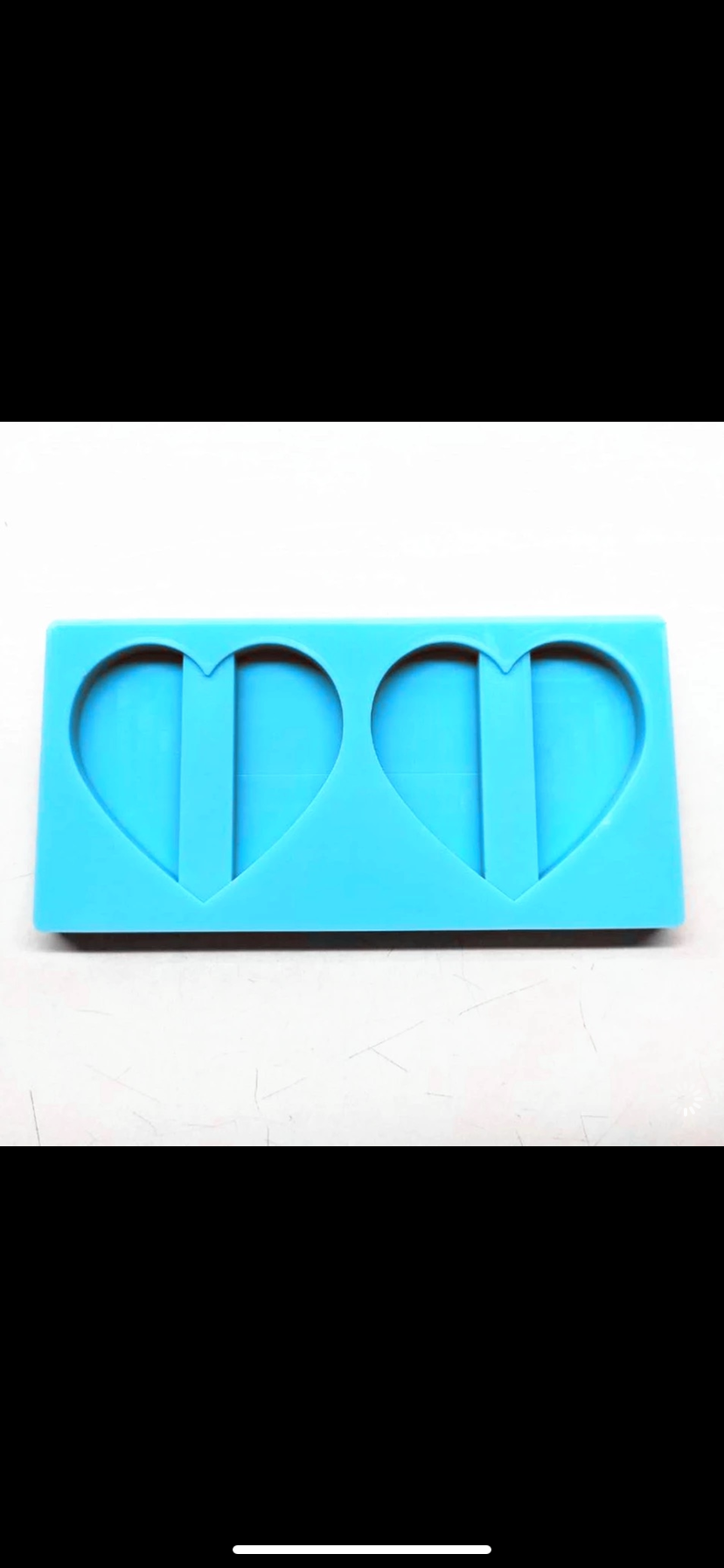 Heart silicone straw topper mold
