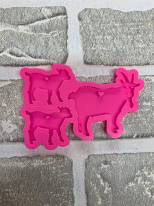 Mom/ baby goat molds