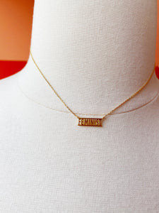 FEMINIST Gold Plated Necklace