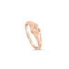 Rose Gold Pink Heart Signet Ring