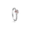 Pink Mother of Pearl Heart Ring