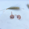 Rose Gold Concave Earrings