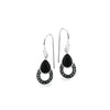 Marcasite  and Onyx Teardrop Earrings