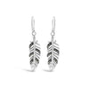 Marcasite Leaf Earrings