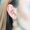 Rose Gold Filigree Earrings
