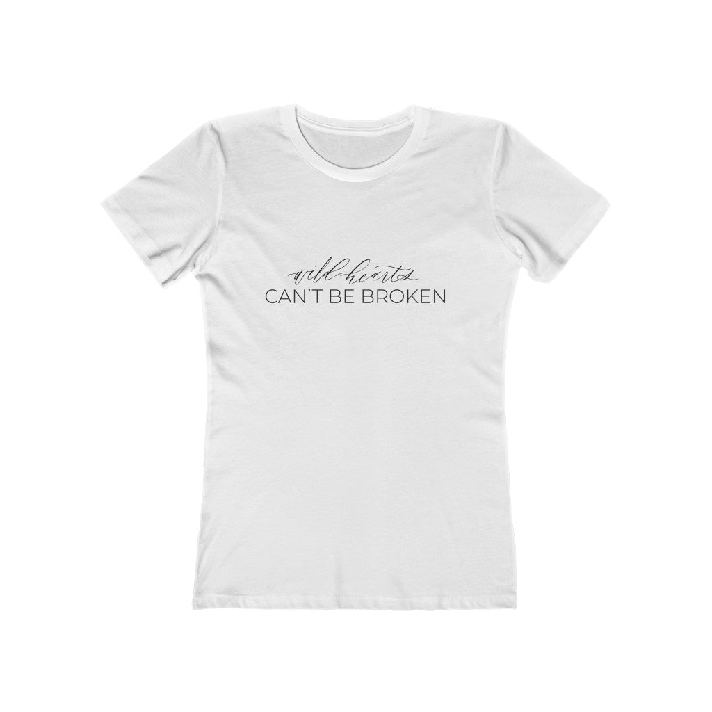 """Wild Hearts Can't Be Broken"" By Wild Heart Events - Women's The Boyfriend Tee"