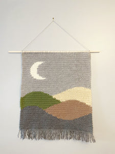 Moon & Mountain Wall Hanging - Earth Tones