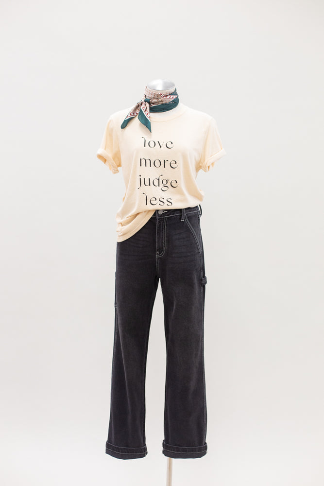 Love More, Judge Less Graphic T-Shirt