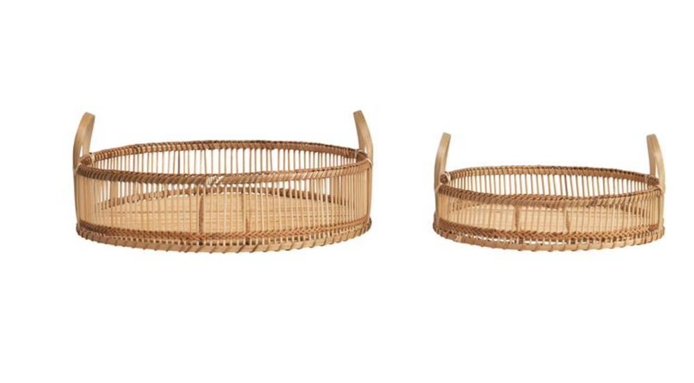 Bamboo Trays with Handles