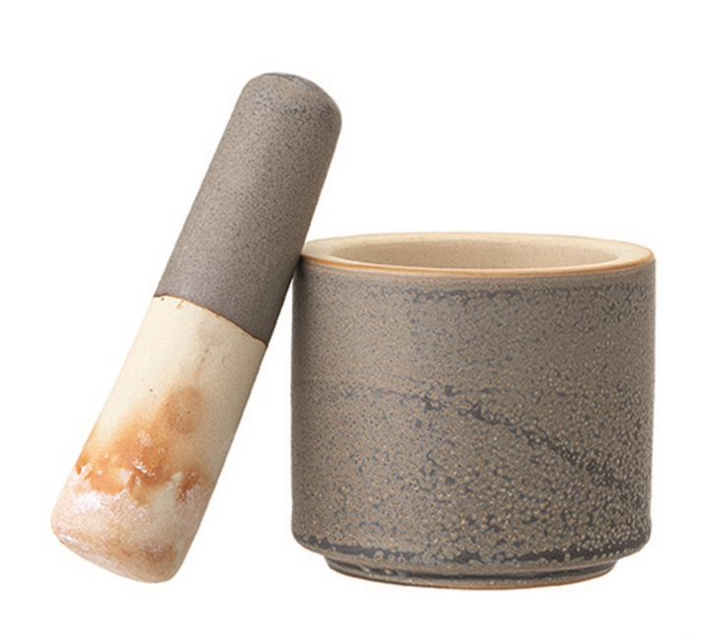 Stoneware Mortar and Pestle Set