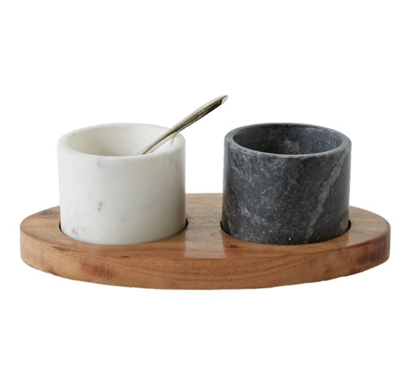 Tray and Spice Bowl Set