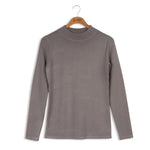point knit mock neck