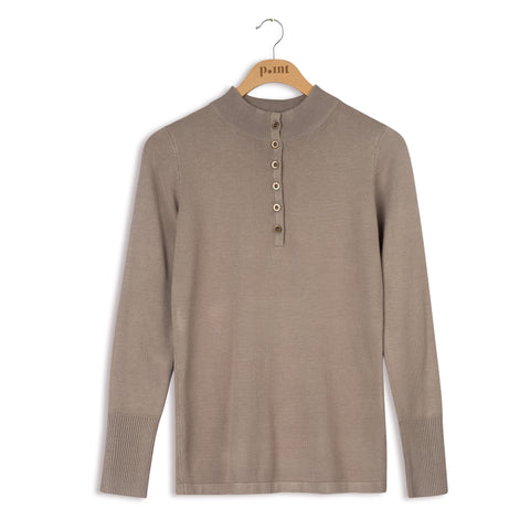 point knits mock henley
