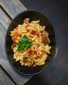 Chorizo and Sun dried tomato Mac & Cheese (Buy 5 get 6th free, mix and match ready meals) Email with your choice for the 6th